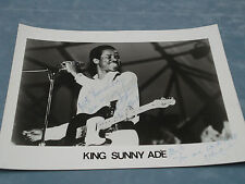 ORIGINAL **KING SUNNY ADE SIGNED PHOTO** C.O.A. **RARE**