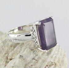 Markenlose Echte Edelstein-Ringe aus Sterlingsilber mit Amethyst für Damen