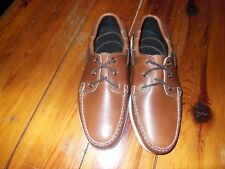 Quoddy  Sewn in Maine Men's Whiskey Boat Shoe,Deck soles, size 9.5 D.M, N.W. B.