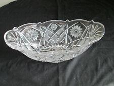 Vintage Crystal Glass Oval Bowl Wedding Crystal / Centerpiece / Table Display