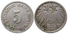 J 12   5 Pfennig Kaiserreich 1906 G in SS+  502890