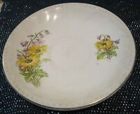 Very pretty wild flower design china saucer Made in England approx 5½ ins wide