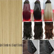 """Hair Extensions Real Thick 1PCS 3/4 Full Head Clip In Long 17-30"""" as human Ad1"""