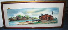 1960 Landscape Watercolor by Listed New York Artist, Magda M Schramm