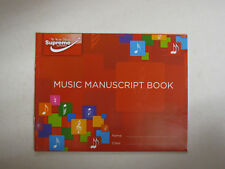 Supreme Music A5 Manuscript Book 6 Staves 24 Pages Page Compose Theory Creative