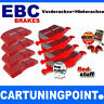 EBC Garnitures de Frein VA + Ha Truc Rouge pour Chrysler 300 C - Dp31724c