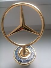 44MM MERCEDES BENZ BADGE W202 W204 W221 W208 W220 LOGO BONNET NEW GOLD