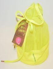 VICTORIA'S Secret Amarillo Malla Cordón Cosmética Belleza Bolsa de Viaje Ducha