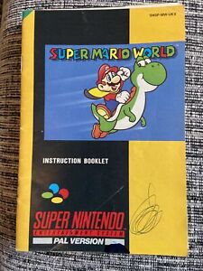 SNES Super Mario World Instruction Booklet - Super Nintendo!