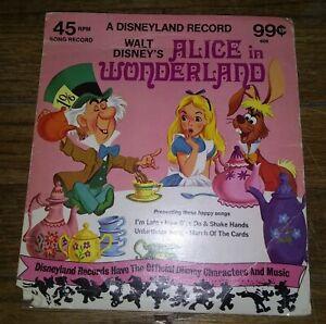 "Walt Disney's""ALICE IN WONDERLAND""(7""45RPM){#608}(RECORD VG+)"