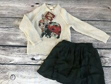 $225 AO American Outfitters Mohair Rabbit Sweater 6 Jumper Sequin W/skirt Xmas