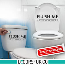 Flush me toilet sticker - 22/8 cm - art decor/ wall decor/ toilet sticker black