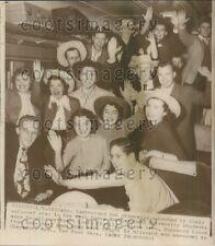 1949 Northwestern University Students in Sombreros  Press Photo