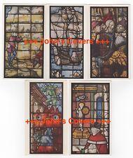 1950's ENGLAND - 5 x CAMBRIDGE - KING'S COLLEGE CHAPEL WINDOWS Postcards Job Lot