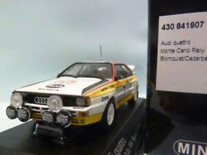 WOW EXTREMELY RARE Audi Quattro B2A2 Blomqvist Monte Carlo 1984 1:43 Minichamps