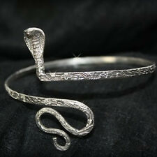 Armreif Oberarmreif Kobra Armlet Bollywood Armreifen Schlange Silber Hippie 3