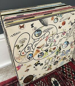 "12"" Vinyl Record LP Album Bundle Job Lot Collection Rare UK Prog Rock Heavy EX"