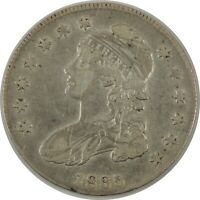 1835 50C CAPPED BUST HALF DOLLAR VF+ DETAILS Cleaned / Light Scratches(11112035)