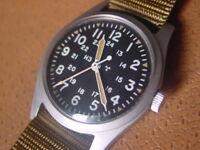 Vintage Hamilton U.S. Military Issue Wrist Watch .... MIL W 46374B