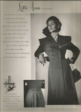 40's Hurrell Photographed Lilli Ann Fashion Ad  1949