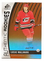 2017-18 SP GAME USED LUCAS WALLMARK ORANGE RAINBOW ROOKIE #60/114 (PANTHERS)