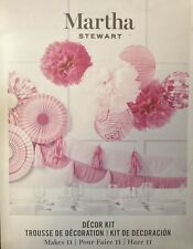 New ListingMartha Stewart Celebrations Deluxe Paper Craft Party Decor Kit-Pink Makes 11 New