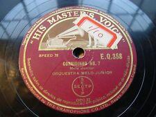 NOVA ORQUESTRA LIGEIRA fado cafe com leite / vira - 78 rpm - hmv uk -