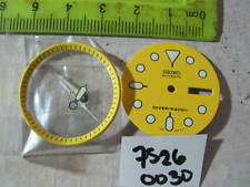 - Yellow Dial /Hands /Minute Ring Set made for SEIKO 7S26-0030 DIVER Auto NEW