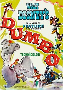 Dumbo Disney movie cartoon poster print #3