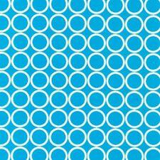 FQ METRO LIVING Cerchi Blu Tessuto da Robert Kaufman