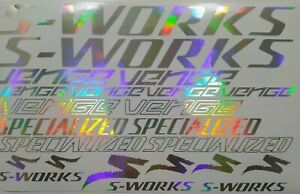 S-Works Venge Specialized decals stickers.Rainbow chrome. All colors
