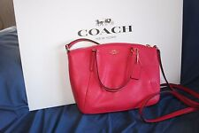 Coach Red Kelsey Pebbled Leather Bright Pink Purse F57563