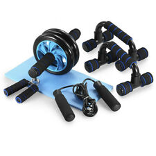 AB Wheel Roller Kit 5-in-1 Home Workout Set Fitness Exercise Skipping rope