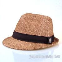 J2R Mixed Multi Color Cotton Fedora Porkpie Adjustable Hat JRJ059 Beige Purple