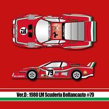 Model Factory Hiro 1/12 Ferrari 512BB LM Ver.D: 1980 LM Scuderia Bellancauto #79