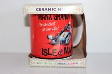 Isle of Man TT Manx Grand Prix Classic Retro Art Ceramic Mug in Gift Box Bike