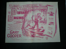 DISTANT DRUMS, orig folded herald [Raoul Walsh, Gary Cooper] - 1951