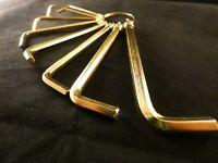 24 Karat Vergoldet Imbus Schlüssel Werkzeug Innensechskant Winkelschlüssel