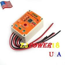 10A 12V 24V Waterproof PWM Solar Power Charge Controller System Regulator