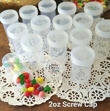 12 Bottle JARS Plastic Container Craft Organizing Hobby 2 oz 60ml 4314 DecoJars