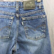 Levi's Silvertab Estándar de Campana Pantalones de Mezclilla Azul Sz 14 Niña