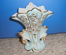 "Art Deco Vase Vintage 24 K Trim Hand Painted 6"" Exceptional Condition Amoges"