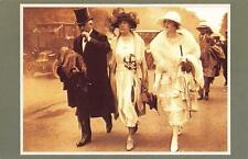 Postcard Nostalgia June 1921 Fashion Royal Ascot Races Reproduction Card