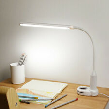 USB Desk Clip on Lamp LED Dimmable Reading Light Touch Control Bright Table Lamp