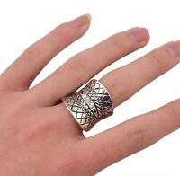 anillo bohemio tribal Gypsy Boho Carved Totem Antique Inlay Crystal Vintage Ring