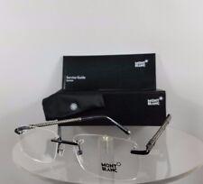 d700243650 New Authentic MONT Blanc MB 391 001 Eyeglasses Black and Gunmetal MB391  Frame
