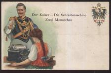 Postcard GERMANY  German Kaiser Promo Ad for Monarch Typewriter 1906?
