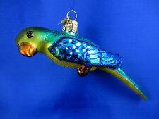 Parakeet Budgie Bird Old World Christmas Ornament Glass Animal NWT 16038