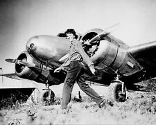 AMELIA EARHART AND LOCKHEED ELECTRA 8x10 SILVER HALIDE PHOTO PRINT