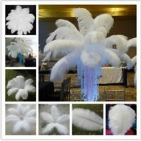 10~100pcs White Natural Ostrich Feathers 12-14 Inch Wedding Party Home Decor DIY